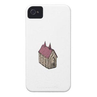 Dessin médiéval d'église coques iPhone 4 Case-Mate