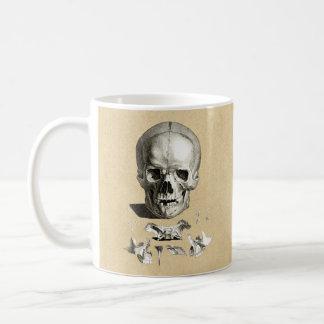 Dessin orthopédique de crâne et d'os mug