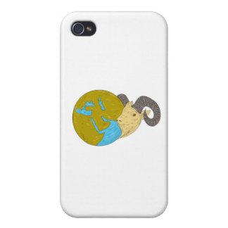 Dessin principal de globe de Moyen-Orient de RAM Coque iPhone 4/4S