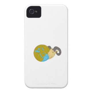 Dessin principal de globe de Moyen-Orient de RAM Coque iPhone 4 Case-Mate