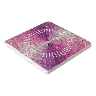Dessous-de-plat Fleur rose et pourpre de mandala