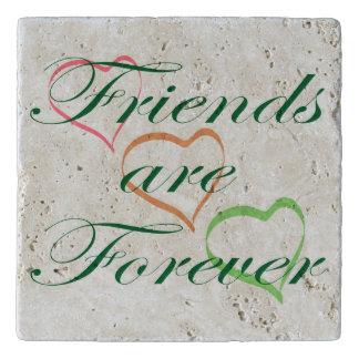 Dessous-de-plat Les amis sont pour toujours des coeurs