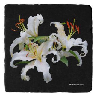 Dessous-de-plat Lis orientaux blancs élégants de Casablanca
