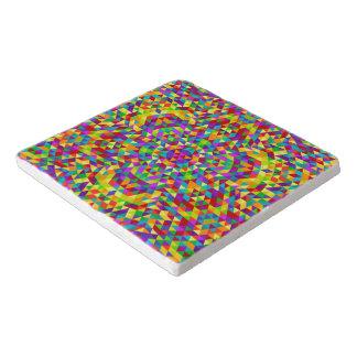Dessous-de-plat Mandala heureux 2 de triangle