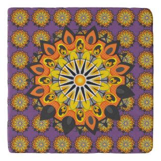 Dessous-de-plat Mandala-Jaune