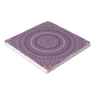 Dessous-de-plat Mandala mauve de cercle