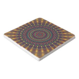 Dessous-de-plat Mandala ovale psychédélique