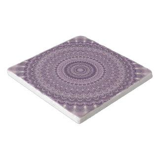 Dessous-de-plat Mandala pourpre de plume