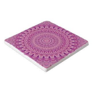 Dessous-de-plat Mandala rose de fleur