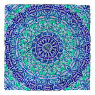 Dessous-de-plat Mandala tribal de marbre G389 de trépied