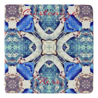 Dessous-de-plat Motif bleu Thunder_Cove de coeurs de mandala