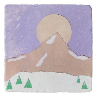 Dessous-de-plat Trépied avec la scène de montagne