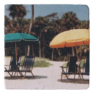 Dessous-de-plat Trépied de plage de parapluie