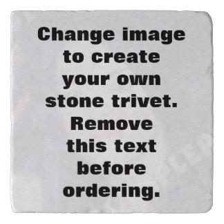Dessous-de-plat Trépied personnalisé de pierre de photo. Faites