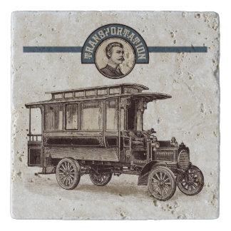 Dessous-de-plat Trépied vintage de travertin de transport