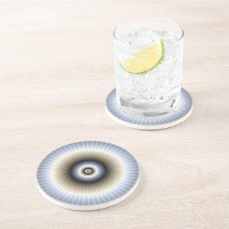 Dessous de verre abstraits de circulaire