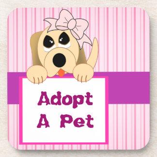 Dessous-de-verre Adoptez un animal familier, signe adorable