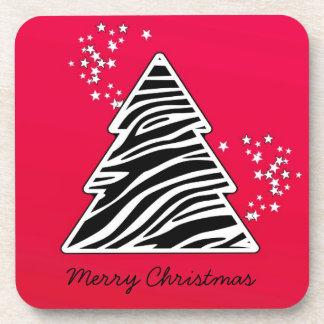 Dessous-de-verre Arbre de Noël rouge de zèbre