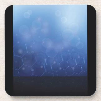 Dessous-de-verre arrière - plan de molécules