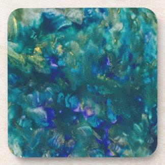 Dessous-de-verre Art pour aquarelle bleu de peinture