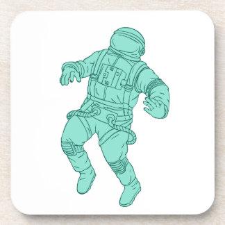 Dessous-de-verre Astronaute flottant dans le dessin de l'espace