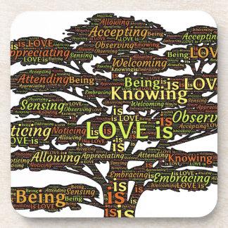 Dessous-de-verre attributs d'amour
