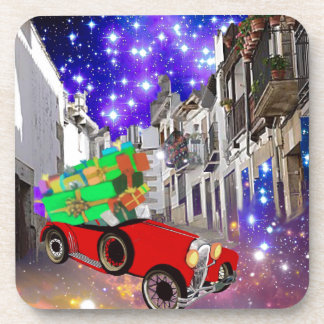 Dessous-de-verre Belle abondance de voiture des cadeaux sous la