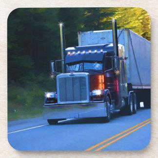 Dessous-de-verre Camionneurs, grand art de camion de cargaison