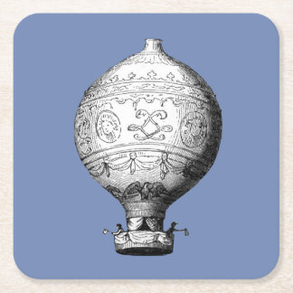 Dessous-de-verre Carré En Papier Ballon à air chaud vintage de Montgolfier