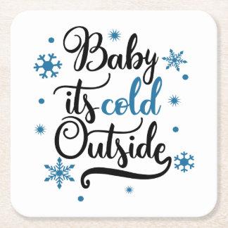 Dessous-de-verre Carré En Papier bébé son extérieur froid