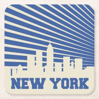 Dessous-de-verre Carré En Papier Bleu de New York City
