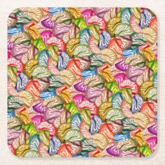 Dessous-de-verre Carré En Papier Cerveau Coaster1