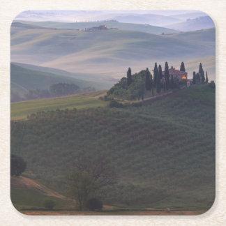 Dessous-de-verre Carré En Papier Chambre en Toscane dans les dessous de verre de