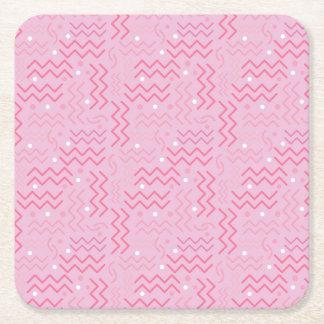 Dessous-de-verre Carré En Papier Conception géniale de Memphis de rose en pastel