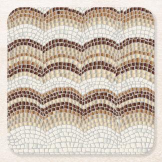 Dessous-de-verre Carré En Papier Dessous de verre beiges de carré de mosaïque