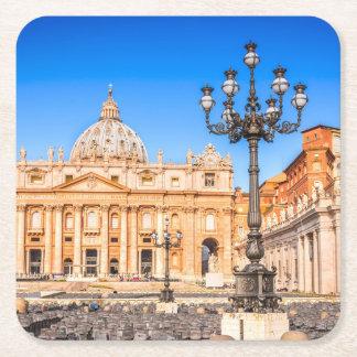 Dessous-de-verre Carré En Papier Dessous de verre carrés Vatican de coutume