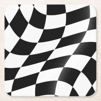 Dessous-de-verre Carré En Papier Dessous de verre Checkered de drapeau