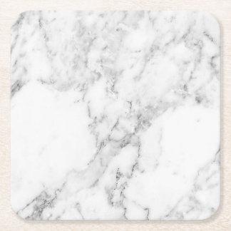 Dessous-de-verre Carré En Papier Dessous de verre de marbre