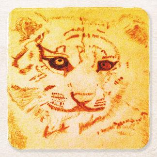 Dessous-de-verre Carré En Papier Dessous de verre de tigre