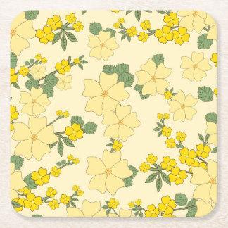 Dessous-de-verre Carré En Papier Dessous de verre floraux de carré de coutume