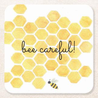 Dessous-de-verre Carré En Papier dessous de verre jaunes de peinture d'abeille