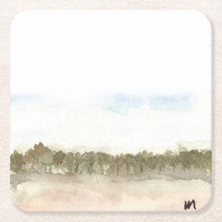 Dessous-de-verre Carré En Papier Dessous de verre secrets de forêt