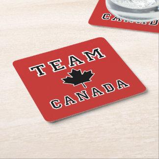 Dessous-de-verre Carré En Papier Équipe Canada