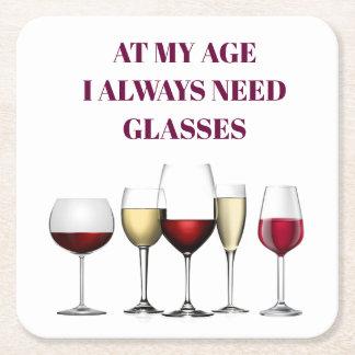 Dessous-de-verre Carré En Papier Expression en verre de vin