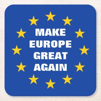Dessous-de-verre Carré En Papier Faites à l'Europe les grands encore euro dessous