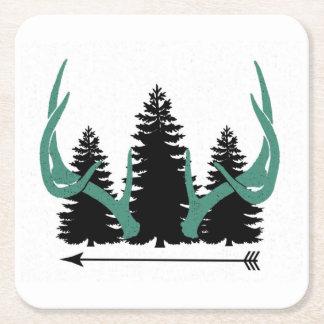 Dessous-de-verre Carré En Papier Flèches, arbres et andouillers