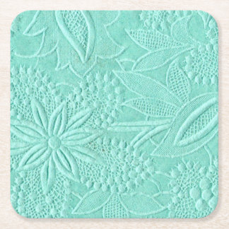 Dessous-de-verre Carré En Papier Floral vert en bon état