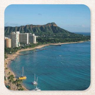 Dessous-de-verre Carré En Papier Honolulu Hawaï