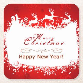 Dessous-de-verre Carré En Papier Joyeux Noël et bonne année