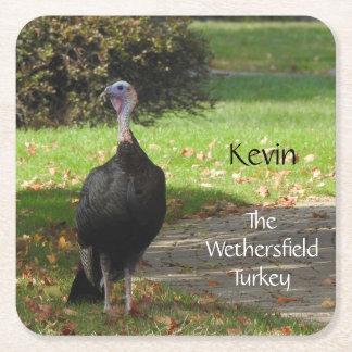 Dessous-de-verre Carré En Papier Kevin la Turquie - vieux Wethersfield, CT